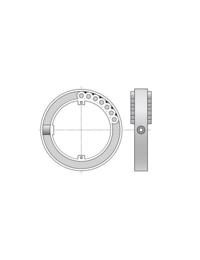 Zurfluh Feller H825 - Bague verrou Blocksur tube ZF45 volet roulant