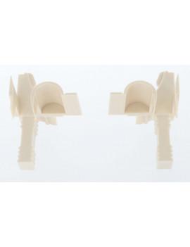 Building Plastics - Tulipe beige flasque 45° 125/205 lame 9 - ILT01-05