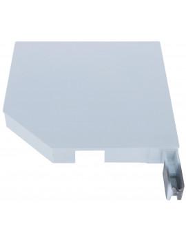 Building Plastics - Flasque 45° alu blanche volet roulant en 300 mm - Droite