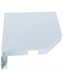 Building Plastics - Flasque alu 45° alu blanche volet roulant en 300 mm - Gauche