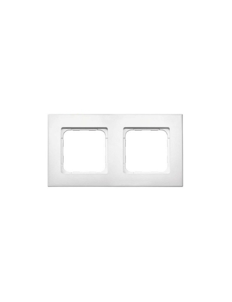 Somfy - Cadre double Smoove blanc laqué - 9015238