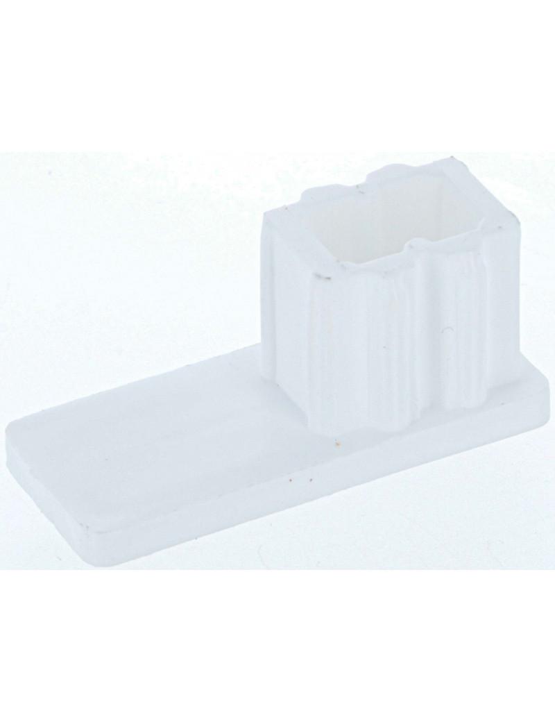ARG010-001 - Arrêt bas blanc pour coulisse volet roulant