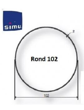 Simu - Bagues moteur Simu T5 - Dmi5 Rond 102 - 9521056 - Volet roulant