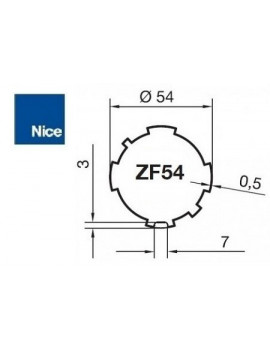 Nice - Bagues moteur Nice Era M - Era MH ZF 54 - 515.26254