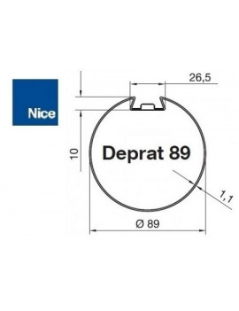 Bagues moteur Nice Era M - Era MH Deprat 89 - 515.28900