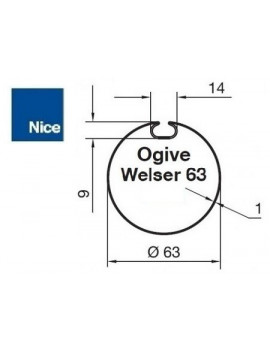 Bagues moteur Nice Era M - Era MH Ogive Welser 63 - 515.26200