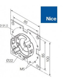 Nice - Support moteur Nice Era M - Universel - 535.10012