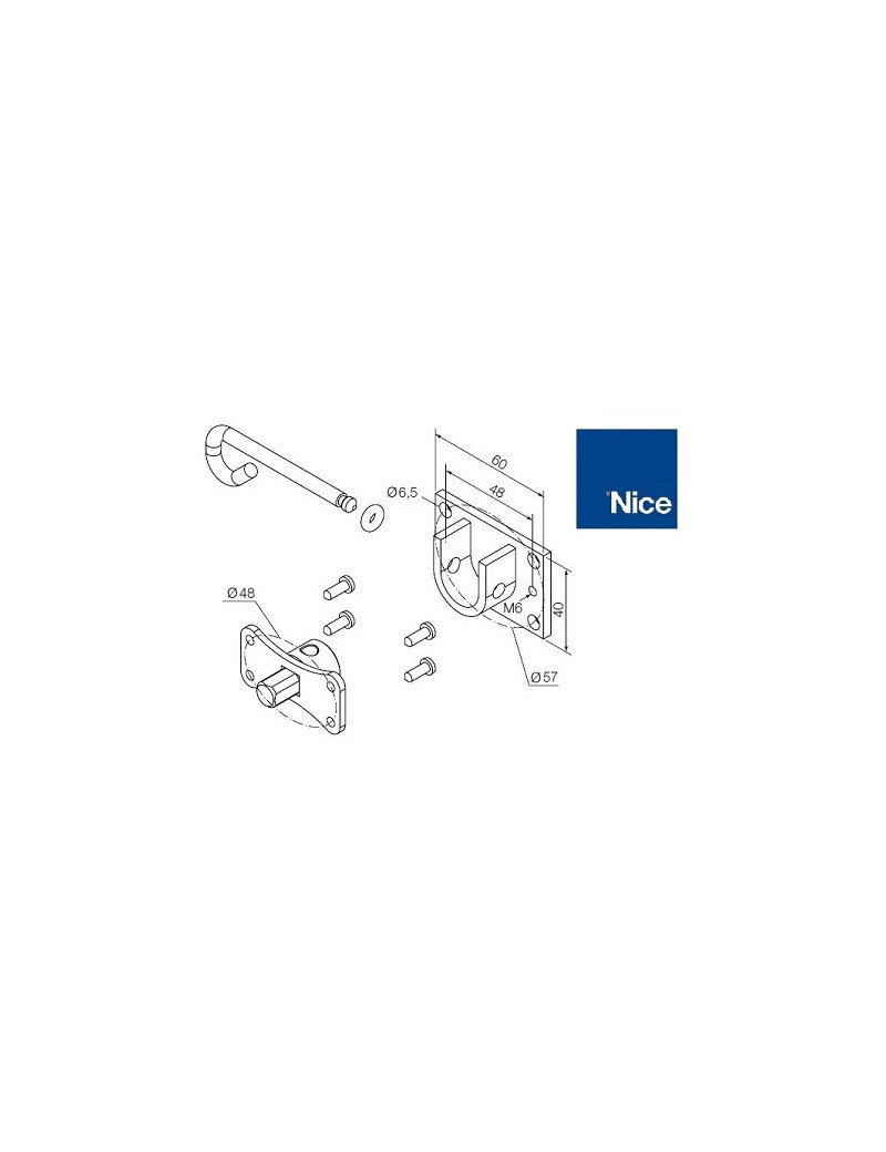 Support moteur Nice Era M - Débrayable - 525.10091
