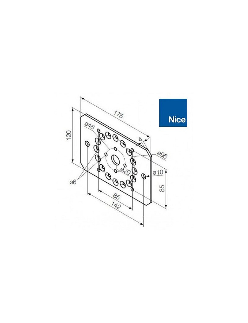 Support moteur Nice Era MH - pour flancs - 525.10089