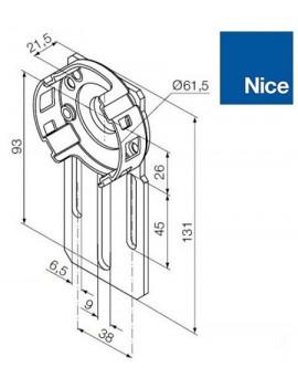 Support moteur Nice Era M - Compact standard - 535.10037