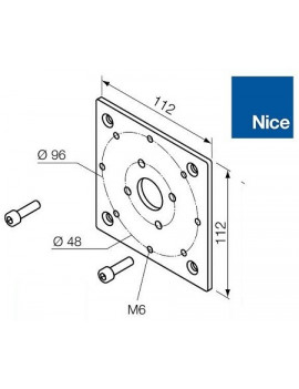 Nice - Support moteur Nice Era MH - 112 x 112 - 525.10060