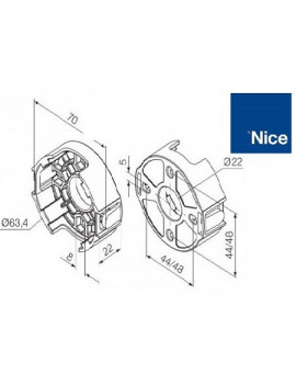 Support moteur Nice Era M - Compact plastique - 535.10013