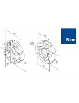 Support moteur Nice Era M - Compact aluminium - 535.10092