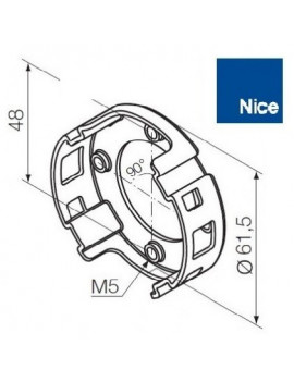 Nice - Support moteur Nice Era M - Compact 4 trous - 535.10022