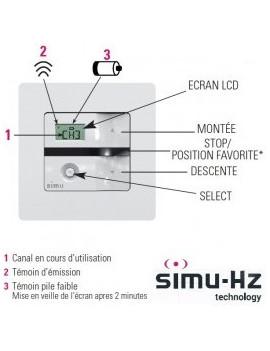 Emetteur mural Simu Hz 5 canaux - Simu 2008335