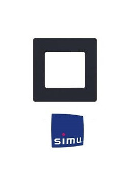 Cadre pour emetteur mural Simu Hz Anthracite - Simu 9019766