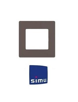 Simu - Cadre pour emetteur mural Simu Hz Taupe - Simu 9019767