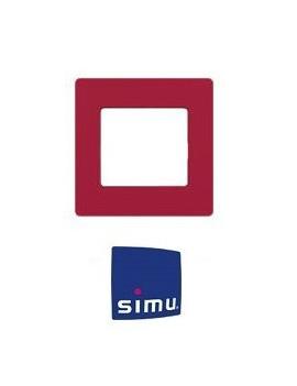 Cadre pour emetteur mural Simu Hz Rouge framboise - Simu 9019768