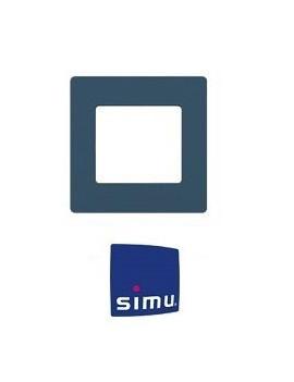 Simu - Cadre pour emetteur mural Simu Hz Bleu minéral - Simu 9019769