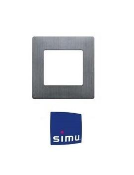 Simu - Cadre pour emetteur mural Simu Hz Alu brossé - Simu 9019770