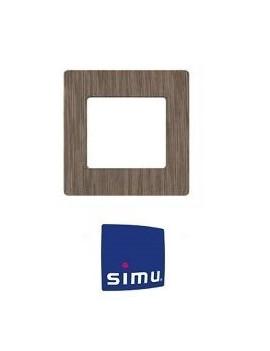 Simu - Cadre pour emetteur mural Simu Hz Bois zebrano - Simu 9019771