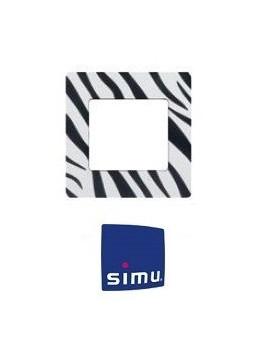 Simu - Cadre pour emetteur mural Simu Hz Zèbre - Simu 9019773