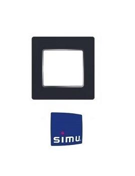 Simu - Cadre pour emetteur mural Simu Hz Anthracite chrome - Simu 9019774
