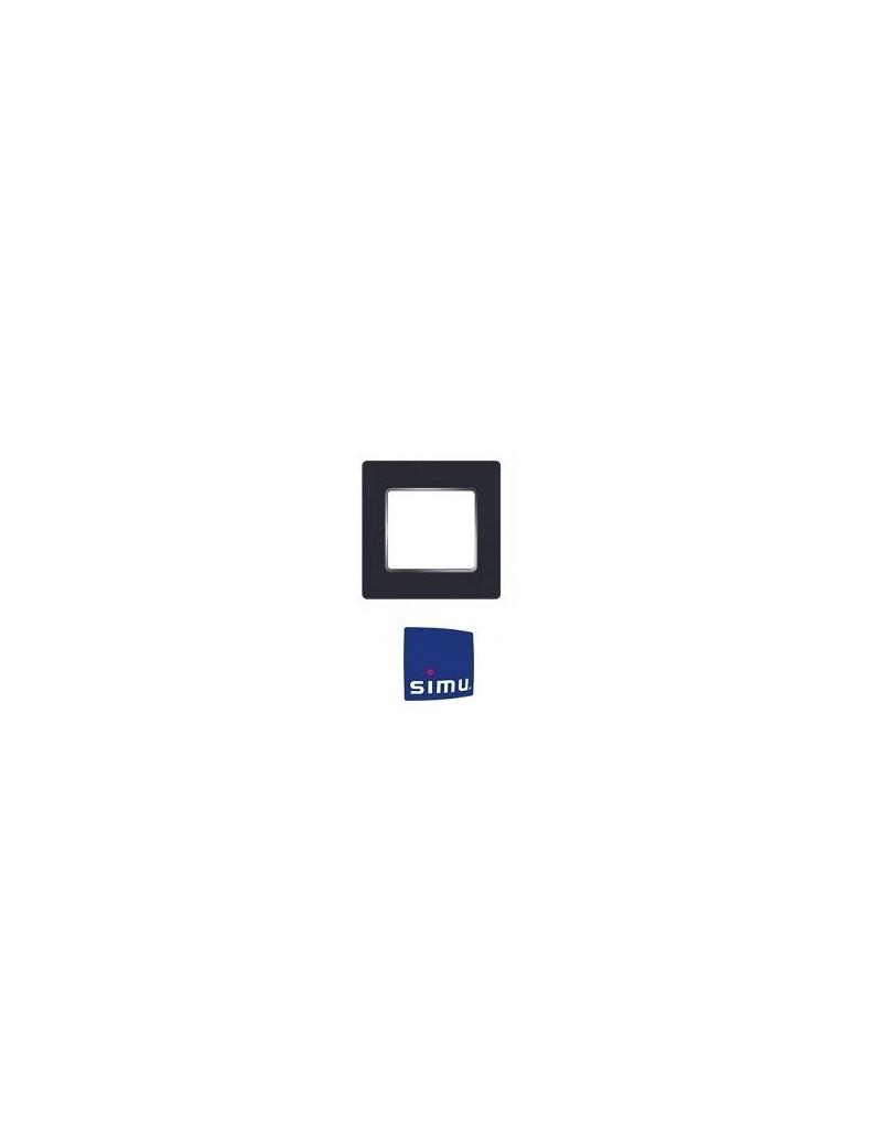 Cadre pour emetteur mural Simu Hz Anthracite chrome - Simu 9019774