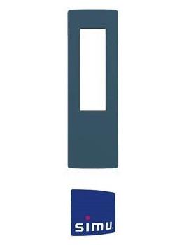 Cadre pour telecommande Simu Hz Bleu minéral - Simu 9019778