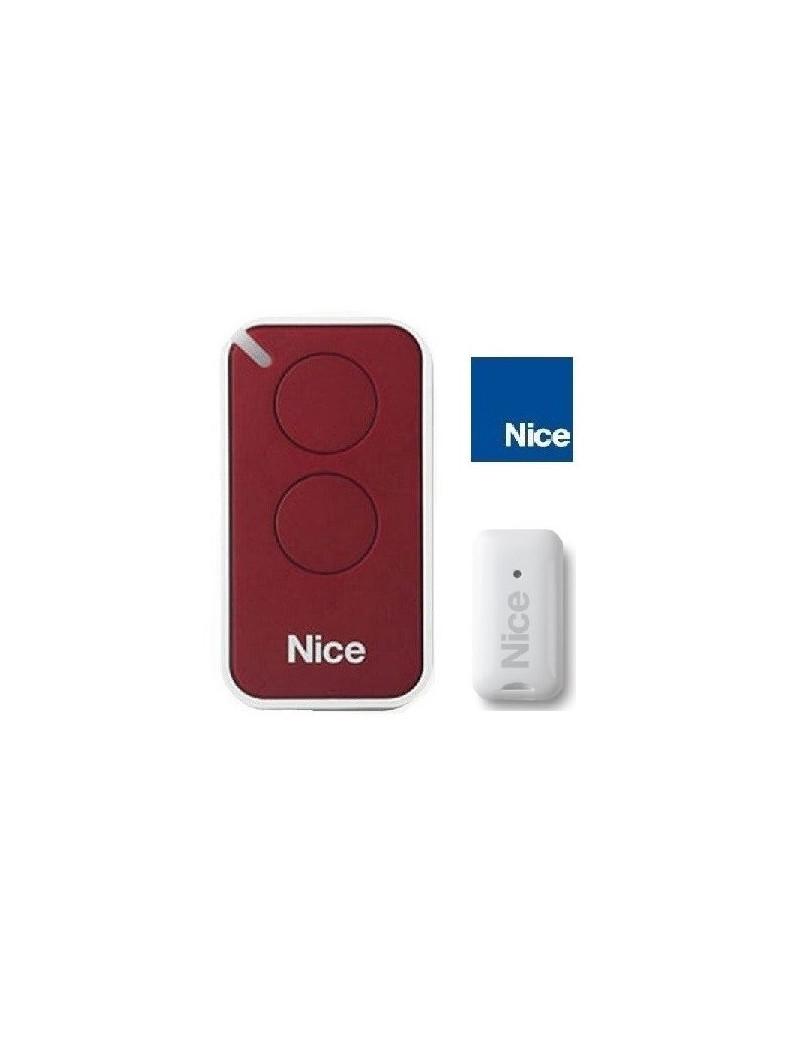 Telecommande Nice Era Inti rouge 2 canaux - Nice INTI2R