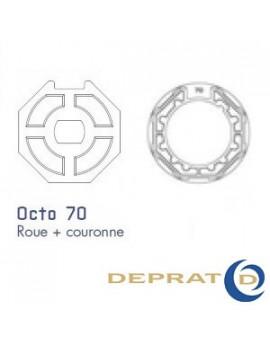 Bagues moteur Deprat Octogonal 70 - 050KOC70 - Volet roulant