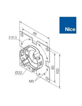 Nice - Support moteur Nice Era M - Compact 45° - 535.10027