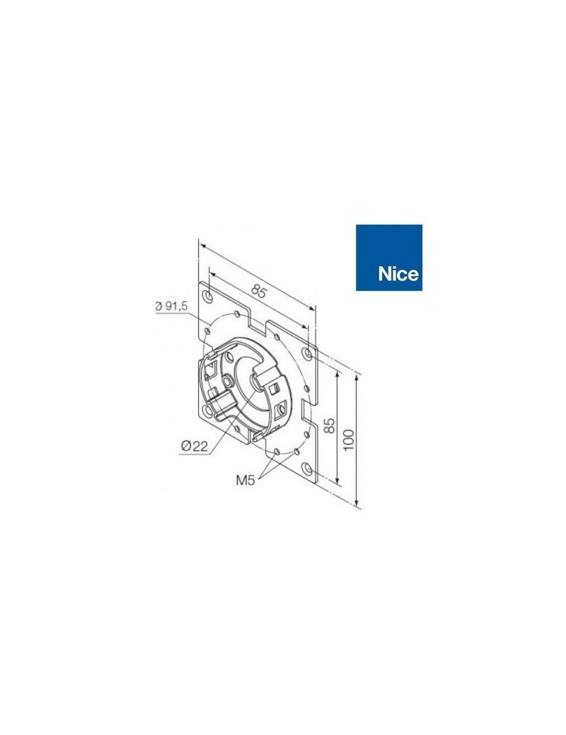 Support moteur Nice Era M - Compact 45° - 535.10027