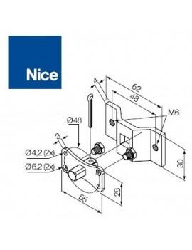 Nice - Support moteur Nice Era MH - Pivot carrée 10 mm - 525.10017/M6