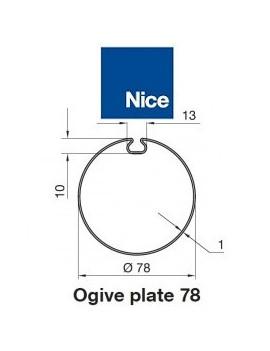 Bagues moteur Nice Era M - Era MH Ogive plate 78 - 515.17800