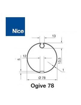 Nice - Bagues moteur Nice Era M - Era MH Ogive 78x1 - 515.17801