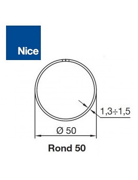 Bagues moteur Nice Era M - Era MH Rond 50 (couronne compensée) - 515.25003