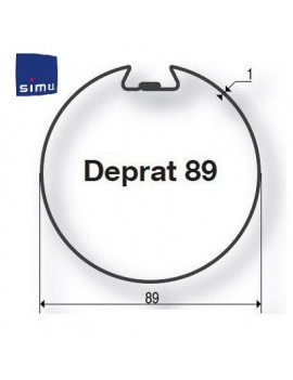 Simu - Bagues moteur Simu T6 - Dmi6 Deprat 89 - 9530110 - Volet roulant
