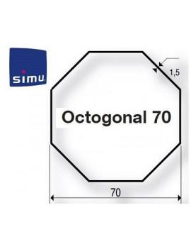 Simu - Bagues moteur Simu T6 - Dmi6 Octogonal 70 - 9530117 - Volet roulant