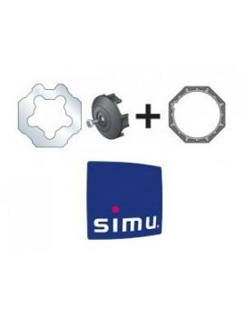 Bagues moteur Simu T6 - Dmi6 Octogonal 70 - 9530117 - Volet roulant
