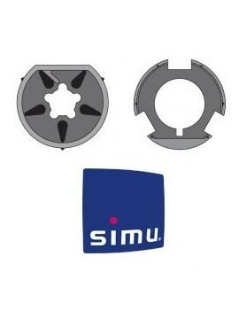 Bagues moteur Simu T6 - Dmi6 Octogonal 102 - 9530131 - Volet roulant
