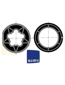 Bagues moteur Simu T5 - Dmi5 Rond 70 - 9521029 - Volet roulant