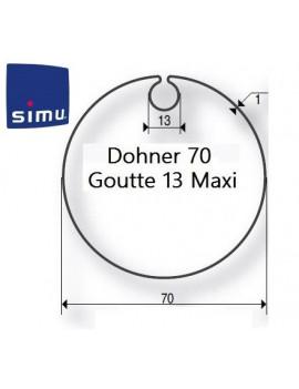 Bagues moteur Simu T5 - Dmi5 Donher 70 - 9521004 - Volet roulant