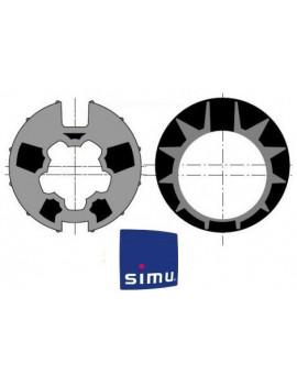Bagues moteur Simu T5 - Dmi5 Donher 70 - 9521005 - Volet roulant