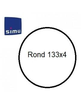 Bagues moteur Simu T6 - Dmi 6 Rond 133x4 - 9530127 - Volet roulant