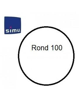 Bagues moteur Simu T6 - Dmi 6 Rond 100 - 9850361 - Volet roulant