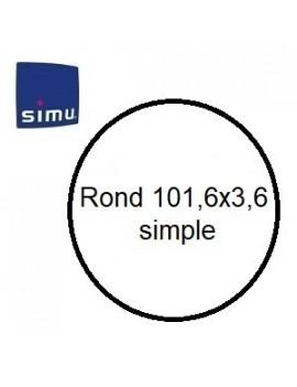 Bagues moteur Simu T6 - Dmi 6 Rond 101,6x3,6 simple - 9530124 - Volet roulant