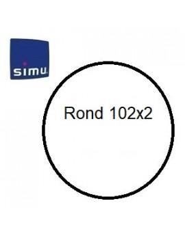 Simu - Bagues moteur Simu T6 - Dmi 6 Rond 102x2 - 9530125 - Volet roulant