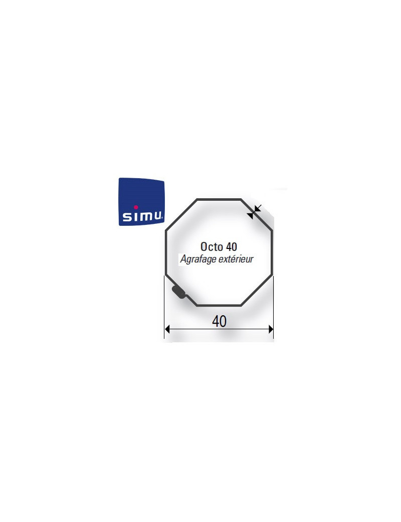 Bagues moteur Simu T3.5 Octogonal 40 Imbac - 9001481