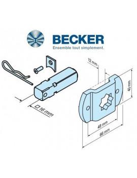 Support moteur Becker L - Carré de 16 - 49312000340 - Volet